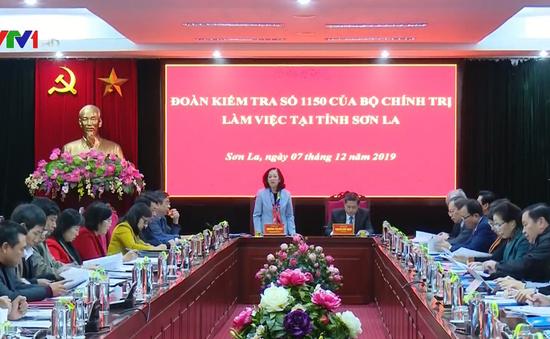 Trưởng ban Dân vận Trung ương Trương Thị Mai làm việc tại Sơn La