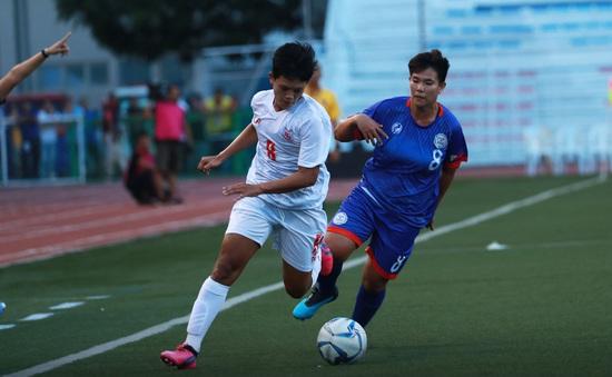 ĐT nữ Myanmar 2-1 ĐT nữ Philippines: Ngược dòng ngoạn mục!