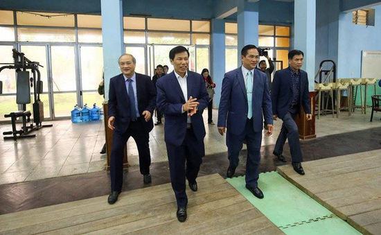 Bộ trưởng Nguyễn Ngọc Thiện thăm và chúc tết các HLV, VĐV tại TTHL Thể thao quốc gia