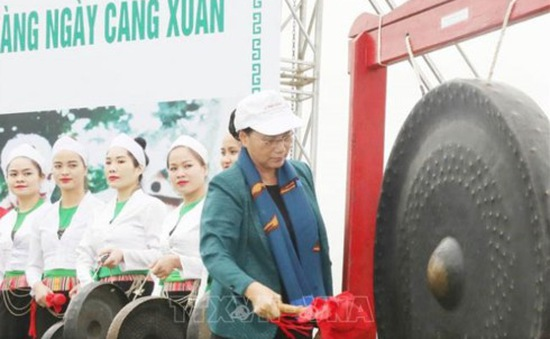 Chủ tịch Quốc hội dự Lễ ra quân hưởng ứng Tết trồng cây