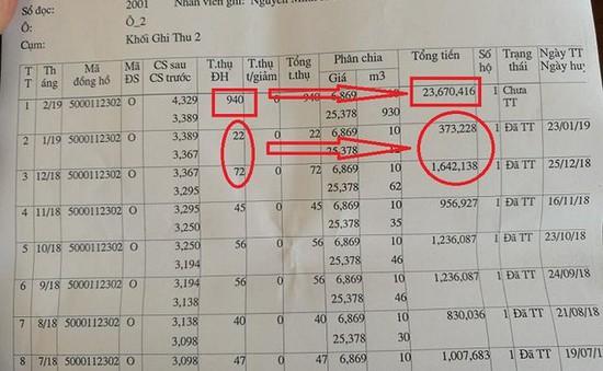 Choáng váng khi bị thu hơn 23 triệu đồng/tháng tiền nước