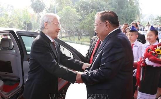 Tổng Bí thư, Chủ tịch nước kết thúc chuyến thăm hữu nghị chính thức Lào