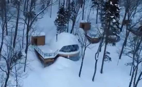 Những căn nhà tuyết sang trọng nằm giữa rừng ở Canada