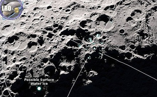 """Phát hiện nước đang """"nhảy"""" trên Mặt trăng"""