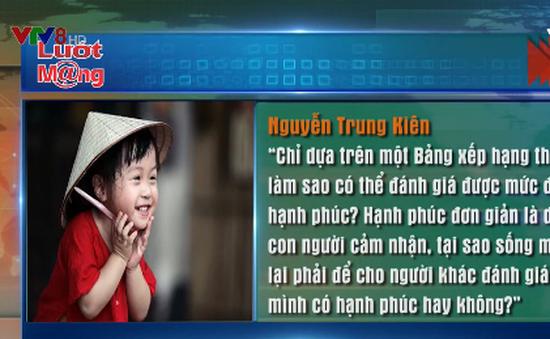 Việt Nam xếp thứ 94/156 quốc gia về hạnh phúc