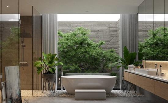 Mẫu thiết kế phòng tắm mở khiến bạn mê mẩn