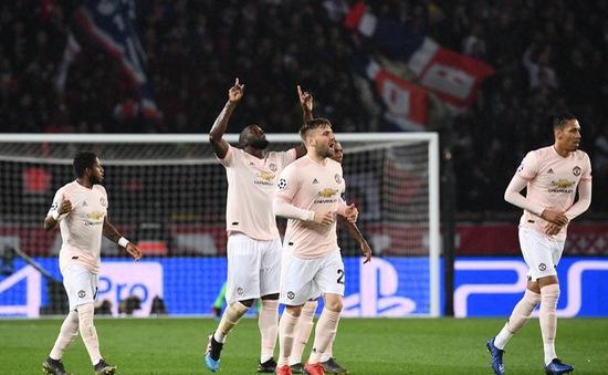 Kết quả lượt về vòng 1/8 Champions League ngày 7/3: Porto* 3 - 1 Roma, Paris Saint-Germain 1 - 3 Manchester United*