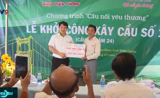 Quỹ Tấm lòng Việt - Đài THVN khởi công 2 cây cầu nông thôn ở Kiên Giang và Cà Mau