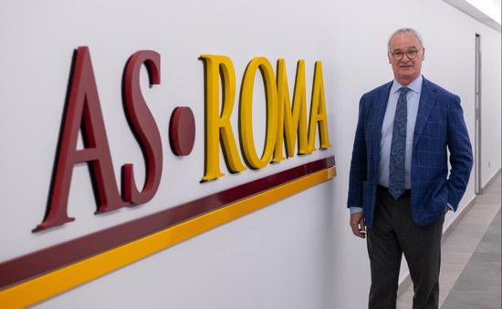 HLV Ranieri chính thức dẫn dắt AS Roma