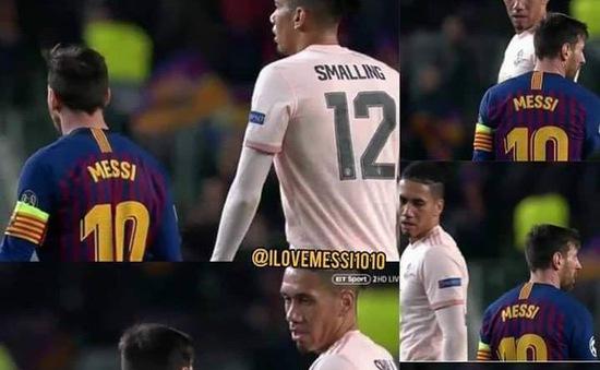 Messi từ chối bắt tay, đổi áo đấu với Smalling