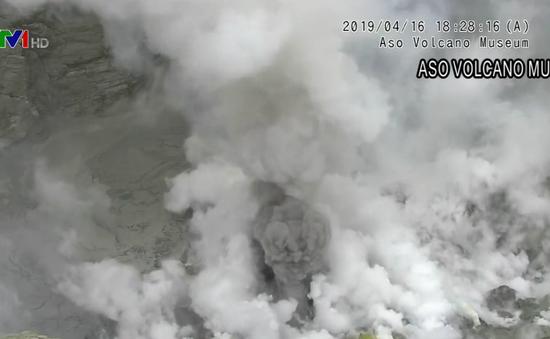 Núi lửa Aso Nhật Bản phun trào