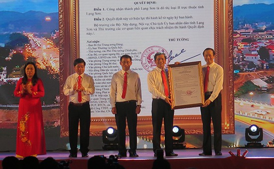 Công nhận thành phố Lạng Sơn là đô thị loại II