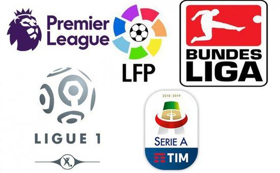 CẬP NHẬT: Lịch thi đấu, kết quả, BXH các giải bóng đá VĐQG châu Âu: Ngoại hạng Anh, La Liga, Serie A, Bundesliga...