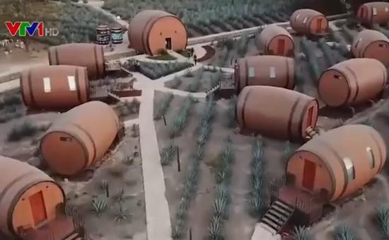 Khám phá khách sạn thùng rượu Tequila khổng lồ ở Mexico