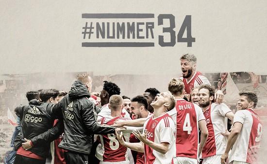 Thắng cách biệt De Graafschap, Ajax lên ngôi vô địch giải VĐQG Hà Lan