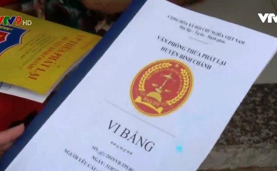 TP. HCM cảnh báo lừa đảo mua bán nhà đất bằng vi bằng