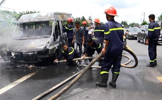 Đồng Nai: Cháy xe khách khiến 3 người thương vong