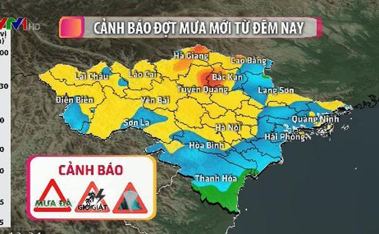 Cảnh báo đợt mưa mới ở Bắc Bộ và Bắc Trung Bộ