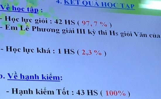 Thực hư vấn đề gian lận ở lớp học có 42/43 học sinh giỏi ở Vũng Tàu