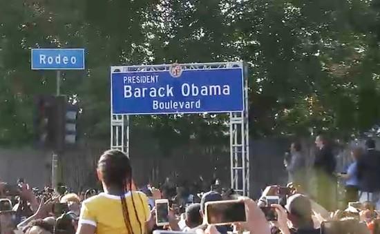 Một thành phố Mỹ đặt tên đường theo tên cựu Tổng thống Obama