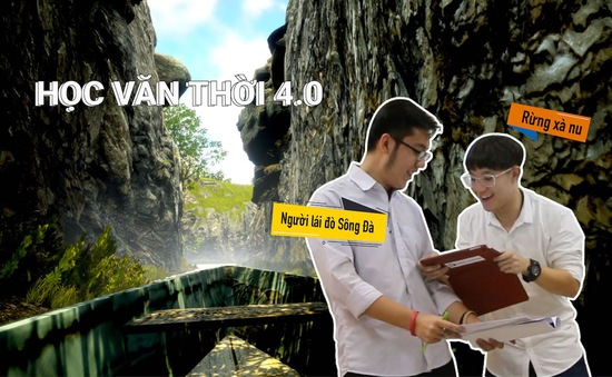 """Học sinh lớp 11 biến """"Người lái đò sông Đà"""" thành game 3D hấp dẫn"""