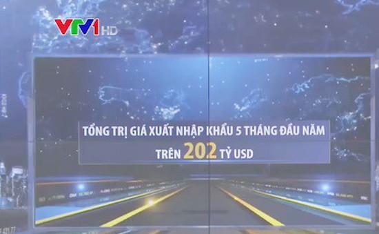 Cán cân thương mại hàng hóa 5 tháng thâm hụt 434 triệu USD