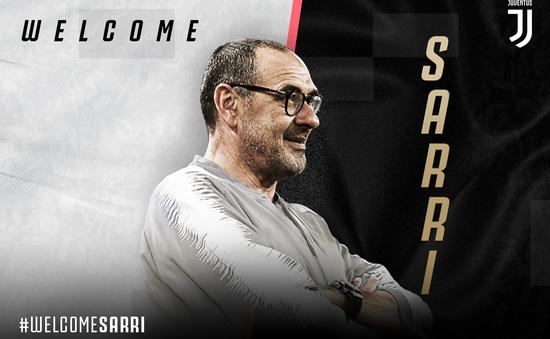 Chia tay Chelsea, HLV Sarri chính thức tới dẫn dắt Juventus