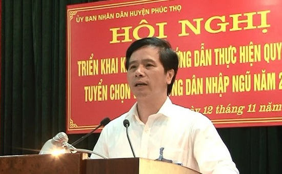 Cách tất cả chức vụ trong Đảng của Bí thư Huyện ủy Phúc Thọ, TP Hà Nội