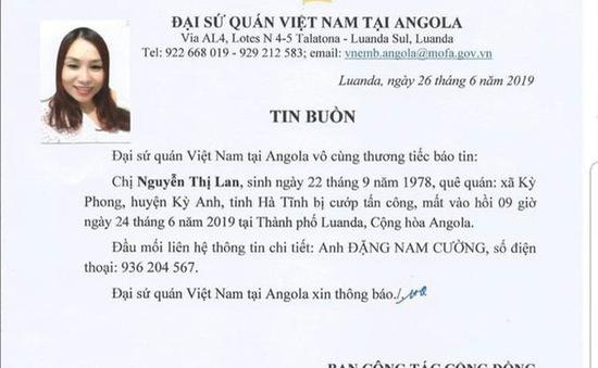 Một công dân quê Hà Tĩnh bị bắn chết tại Angola