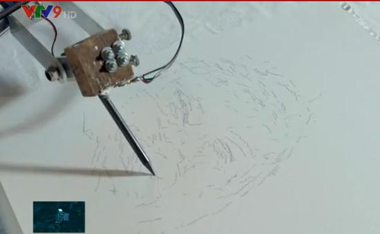 Độc đáo robot vẽ tranh