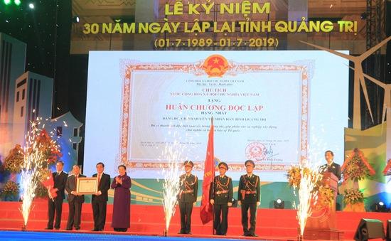 Quảng Trị đón nhận Huân chương Độc lập hạng Nhất