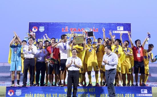 U17 Thanh Hóa đăng quang ngôi vô địch Giải bóng đá U17 Quốc gia 2019