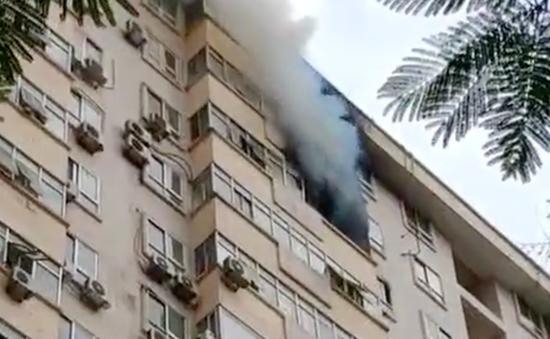 Khống chế thành công đám cháy ở chung cư 17 tầng tại Hà Nội