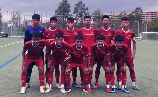 U15 Việt Nam thất bại trước đội bóng gồm nhiều tuyển thủ U16 Nhật Bản