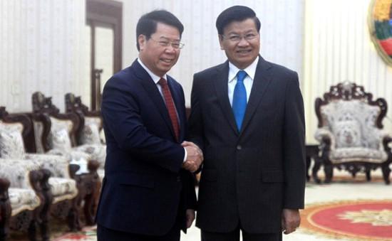Thủ tướng Lào tiếp Thứ trưởng Bộ Công an Bùi Văn Nam