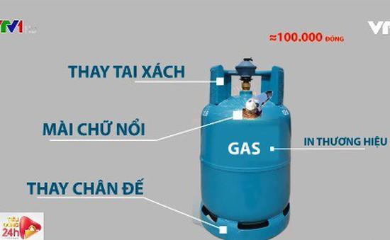 Phân biệt vỏ bình gas thật - giả