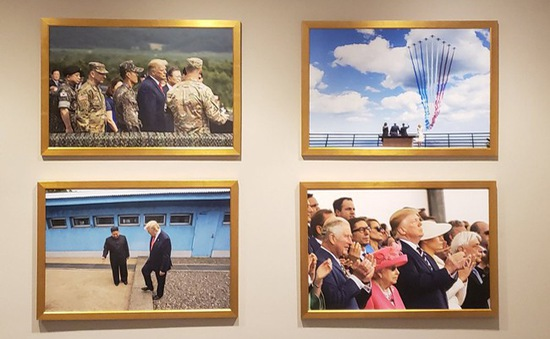 Ảnh Chủ tịch Triều Tiên Kim Jong-un xuất hiện trong Nhà Trắng