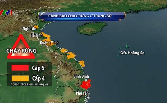 Cảnh báo cháy rừng do đợt nắng nóng kéo dài ở Trung Bộ