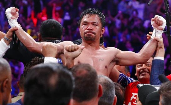 """""""Pacman"""" Manny Pacquiao giành đai vô địch hạng bán trung ở tuổi 40"""