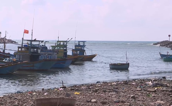 Ngư dân Ninh Thuận gặp khó do cửa biển bị bồi lấp