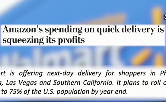 Cuộc đua chuyển phát nhanh trên thị trường bán lẻ Mỹ