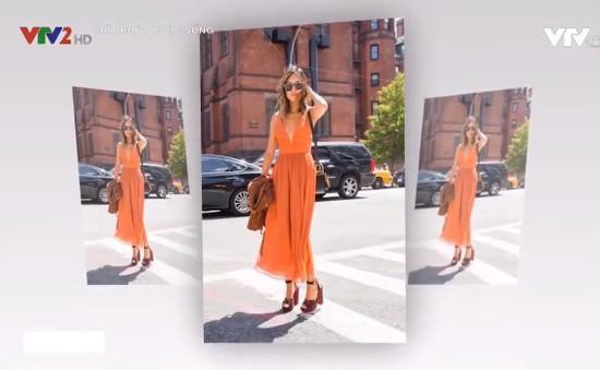 Diện màu cam xuống phố cho ngày hè rạng rỡ