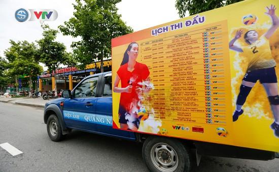 Công tác tuyên truyền chuẩn bị cho giải bóng chuyền nữ quốc tế VTV Cup Tôn Hoa Sen 2019 của tỉnh Quảng Nam