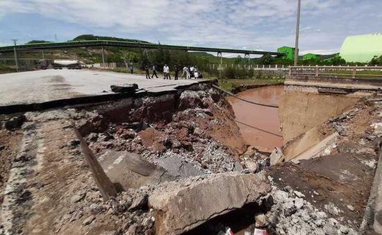 Thanh Hóa: Khắc phục điểm sụt lún ở cầu Yên Hòa để thông xe