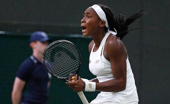Kết quả tennis Wimbledon 2019 - đơn nữ ngày 5/7: Lội ngược dòng kịch tính, tay vợt 15 tuổi viết tiếp giấc mơ