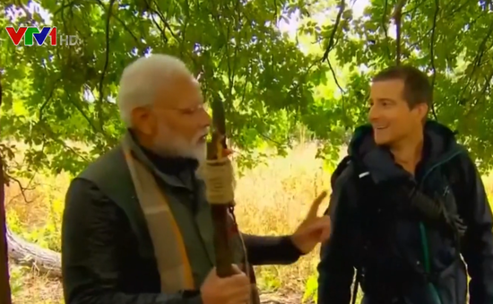 Hé lộ trải nghiệm thú vị của Thủ tướng Ấn Độ trong chương trình truyền hình mạo hiểm Man vs. Wild