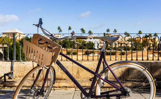 Xe đạp tái chế từ cà phê nén