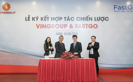 Vingroup hợp tác với FastGo tham gia thị trường xe công nghệ