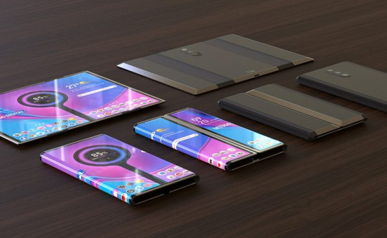 Xiaomi tiết lộ hình ảnh chiếc điện thoại 3 màn hình cực kỳ ấn tượng