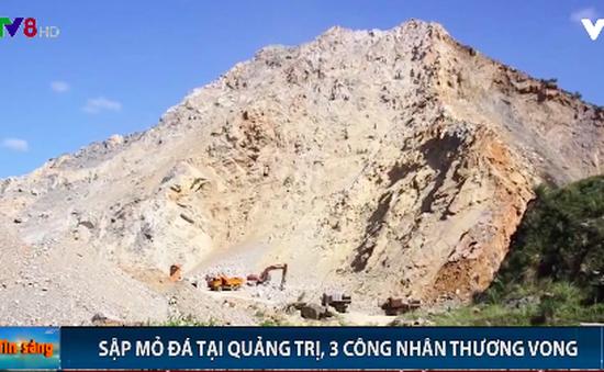 Quảng Trị: Sập mỏ đá, 3 công nhân thương vong